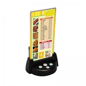 service buzzer with menu holder